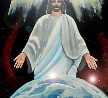 Easter Jesus Christ, The Light of the World Acrylic Painting by Rick Short