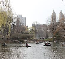 Boats in Central Park by Natalie Whatley