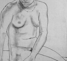 female nude ... pencil sketch # 4 by Juilee  Pryor
