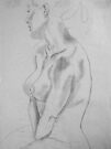 female nude ... pencil sketch # 5 by Juilee  Pryor