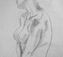 female nude ... pencil sketch # 5 by Juilee  Pryor
