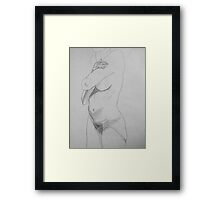 female nude ... pencil sketch # 6 Framed Print