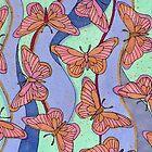 Pink Butterflies by lottietc