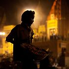 Saint of Varanasi - Ganges River, Varanasi, India. by Andrew To