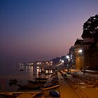 Sunset - Ganges River, Varanasi by Andrew To