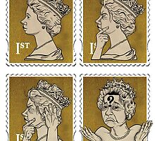 Stamps -  Confused monarchy by Ben Jennings