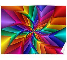 Pinwheel Flower 2 Poster