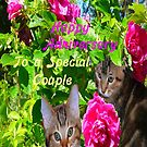 Kittens and Roses Anniversary Card by MaeBelle