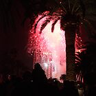 Las Vegas, NV: Pink Firework Silhouettes Palm Tree by tpfmiller