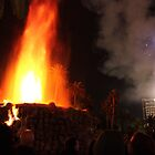 Las Vegas, NV: Mirage Volcano with Fireworks by tpfmiller