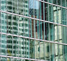 Reflections in Boston Windows  by clizzio