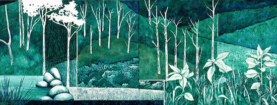 """Subdivision"" (diptych) by Karyn Fendley"