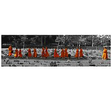 The Orange March Photographic Print
