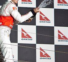 Jensen Button Podium 2010 Australian GP by Paul Golz