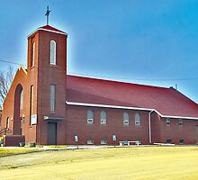 St. Francis Xavier Roman Catholic Church, Circle Montana by Bryan D. Spellman