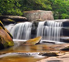 Blue Ridge Waterfall Photography - Geometry by Dave Allen