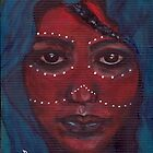 African Tribal Face - A Tribute by Mariaan Maritz Krog Fine Art Portfolio