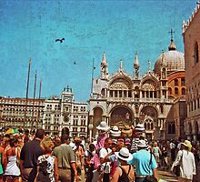 St. Mark's Square, Venice, Italy by CORA D. MITCHELL