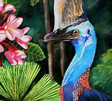 Southern Cassowary  (Hung.. Mall Gallery London) by Sandra  Sengstock-Miller