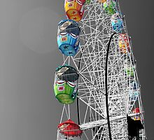 Coloured Ferris Wheel by rachomini