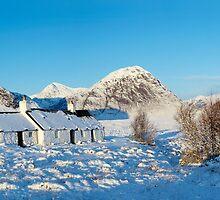 Blackrock Cottage, Buachaille Etive Mor and Glencoe by Jonathan Maddock