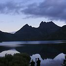 photographer in action at Cradle Mt (Tasmania) by gaylene