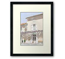 """""""Les Glycines"""", Marthon, France Framed Print"""