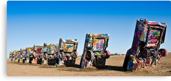 Cadillac Ranch - Print by Mark Podger