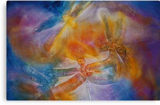 Watercolour: Dragonfly dance by Marion Chapman