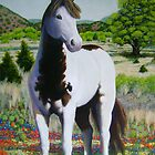 """Texas Hill Country Stallion"" by Charles  Wallis"
