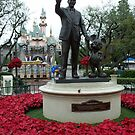 Walt Disney Statue, Disneyland California by Jeffrey Sims