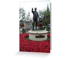 Walt Disney Statue, Disneyland California Greeting Card