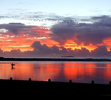 30.3.2010 Moonee Beach Sunrise by Sue Wetherell