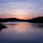 Sun Set on Salmonier Line by Daphne Johnson