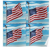 The Star Spangled Banner Waves Poster