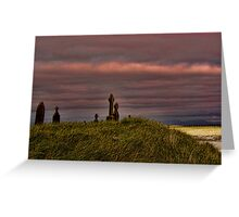 Celtic Crosses over Aran Beachfront Greeting Card