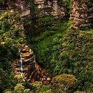 Bridal Veil Falls, Blue Mountains by Samuel Gundry