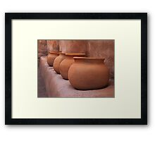 Granary Jars Framed Print