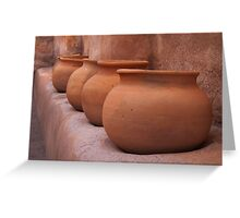 Granary Jars Greeting Card