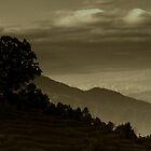 Hills of Nepal by SRana