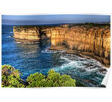 Weathered By Time - Great Ocean Road , Victoria , Australia - The HDR Experience Poster