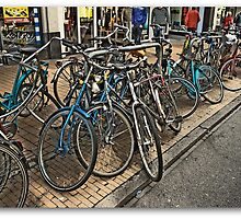 Streetview with Bikes,Groningen stad,the Netherlands,Europe by Aheroy