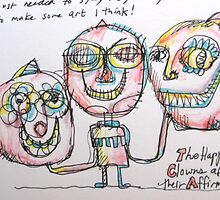 The Happy Clowns after their Affirmations! by Grove Wiley