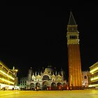 Night time in St Marco Square, Venice, Italy by georgelim