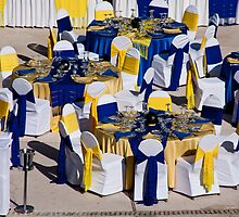 Blue & Gold Dinner by phil decocco