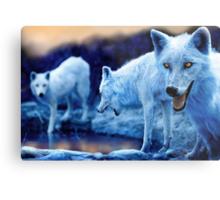 Arctic Wolf Pack Metal Print