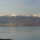 French Alps and Leman lake by Fran E.