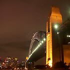 Sydney Harbour Bridge, at night  by Bernie Stronner