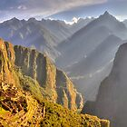 Machupiccu from the Caretakers Hut by Michael Lynch