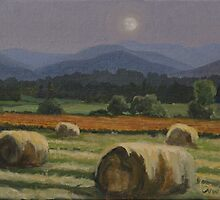 """Harvest Moon - Berkshires"" by Edward Cating"